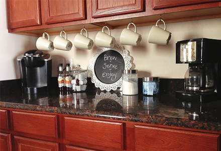DIY kitchen hang a cup projects