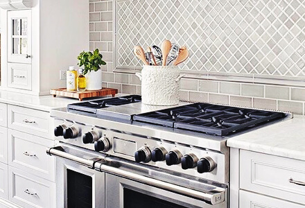 easy diy tile behind and alongside stove home improvement projects