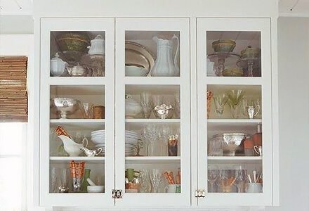 easy diy glass cabinet doors home improvement projects