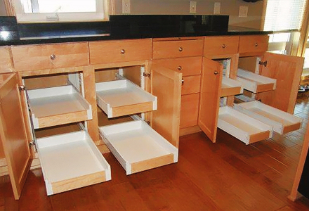 diy space saving cabinet rollouts ideas