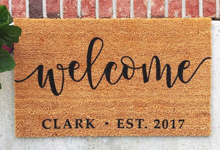 easy diy welcome mat home improvement projects