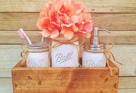 diy storage mason jars bathroom decorating projects