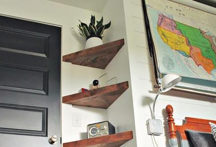 diy corner shelves space saving ideas