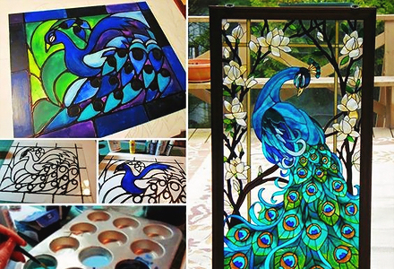 diy stained glass window bathroom decorating projects