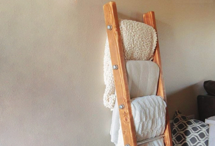 creative diy Wooden Blanket Ladder decorating ideas