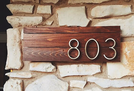 house numbers Easy DIY Home Improvement Projects