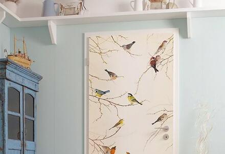 easy diy wallpaper-a-door home improvement projects