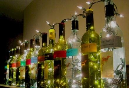 led wine bottle lamp diy